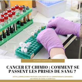 traitement du cancer et prise de sang