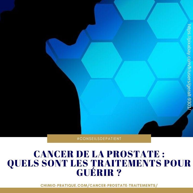 Les traitements pour guérir d'un cancer de la prostate