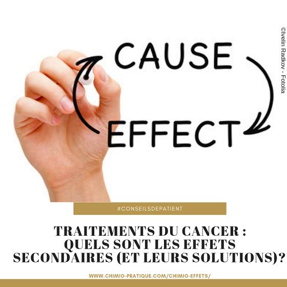 Traitements contre le cancer : quels sont les effets secondaires ?