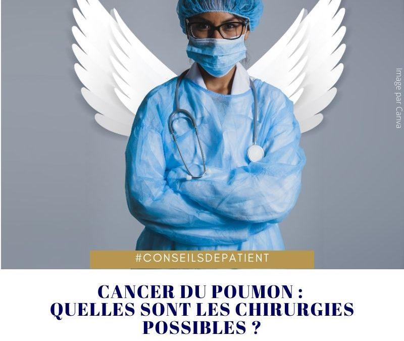 Opération  : quelle est la chirurgie du cancer du poumon ?