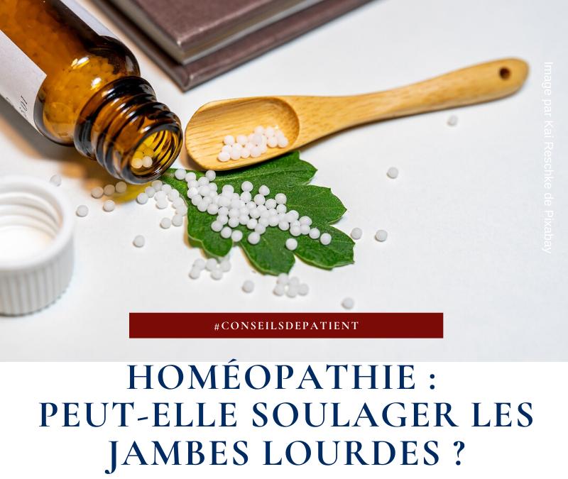 Homéopathie : quels remèdes contre les jambes lourdes ?