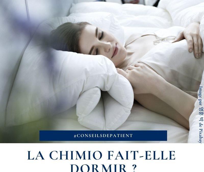 Est-ce que la chimiothérapie fait dormir ?